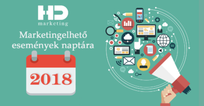 online marketing naptár 2018
