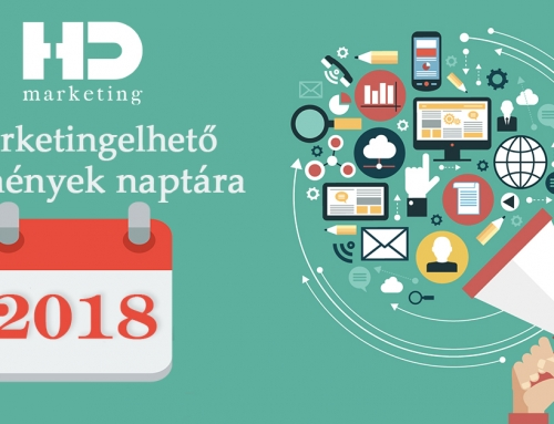 2018-as marketing naptár