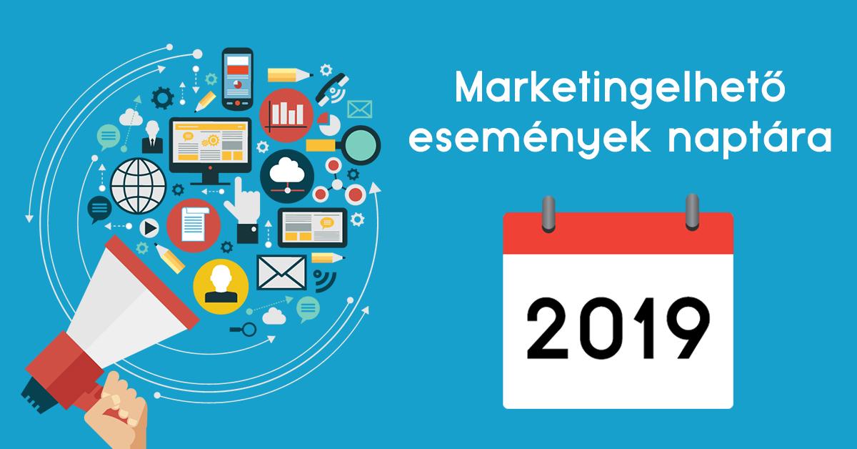 Marketingelhető események naptára 2019