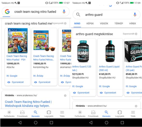 Google Shopping hirdetések illusztrációs kép 5