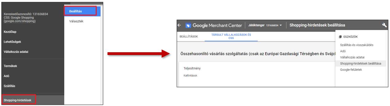 osszehasonlitas merchant center css